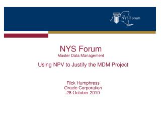 NYS Forum  Master Data Management