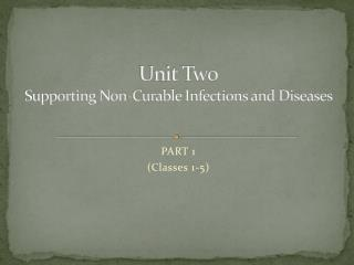 Unit Two Supporting Non-Curable Infections and Diseases