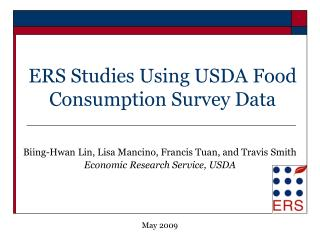 ERS Studies Using USDA Food Consumption Survey Data