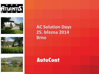 AC  Solution Days 25. března 2014 Brno