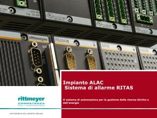 Impianto ALAC  Sistema di allarme RITAS