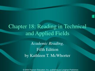 Chapter 18: Reading in Technical and Applied Fields