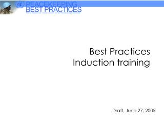Best Practices  Induction training