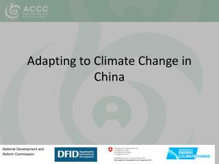 Adapting to Climate Change in China