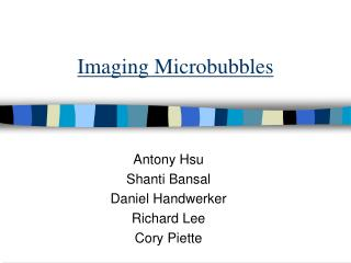 Imaging Microbubbles