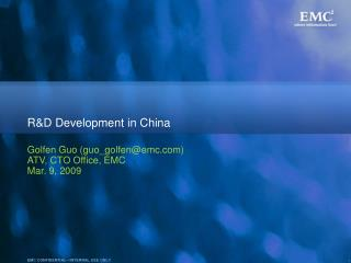 R&D Development in China