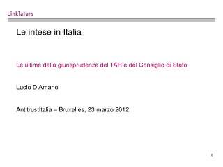 Le intese in Italia