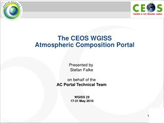 The CEOS WGISS Atmospheric Composition Portal