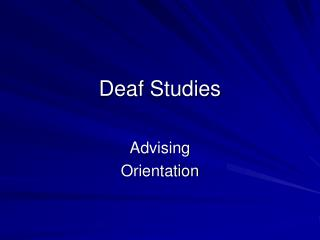Deaf Studies