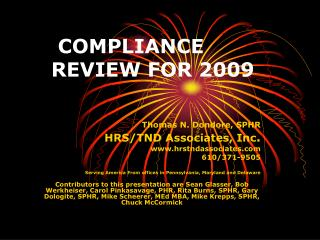COMPLIANCE REVIEW FOR 2009