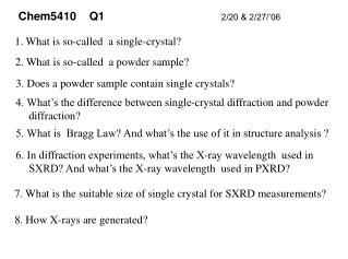 Chem5410    Q1                                     2/20 & 2/27/'06