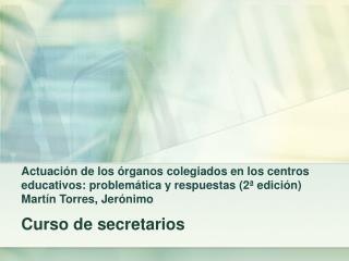 Curso de secretarios