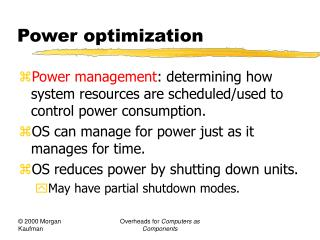 Power optimization