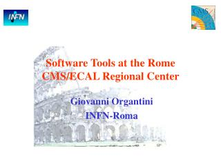 Software Tools at the Rome CMS/ECAL Regional Center