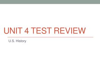 Unit 4 Test Review