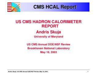 CMS HCAL Report