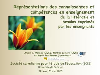Société canadienne pour l'étude de l'éducation ( SCÉÉ)  Université de Carleton