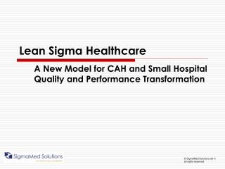 Lean Sigma Healthcare
