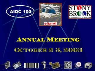 Annual Meeting October 2-3, 2003