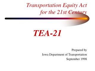 Transportation Equity Act for the 21st Century