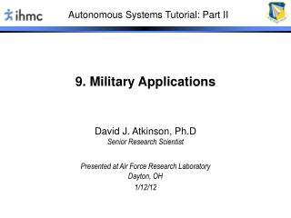 9. Military Applications