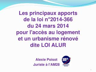 Alexie  Poisot Juriste � l�AM28