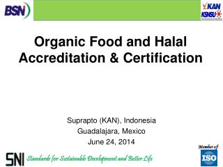 Organic Food and Halal Accreditation & Certification