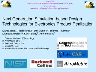 Next Generation Simulation-based Design Technologies for Electronics Product Realization