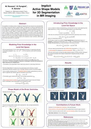 Implicit  Active Shape Models  for 3D Segmentation  in MR Imaging