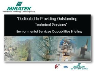 Environmental Services Capabilities Briefing