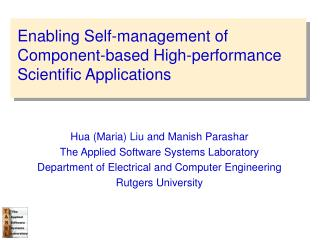 Enabling Self-management of Component-based High-performance Scientific Applications