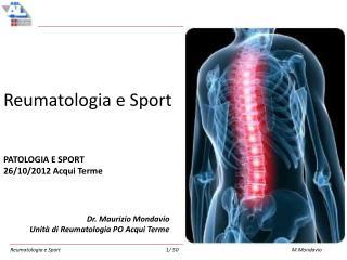 Reumatologia e Sport