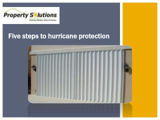 Five steps to hurricane protection