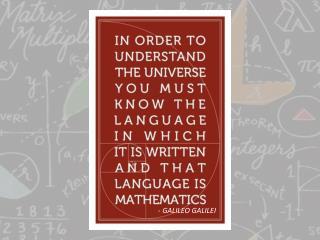 - GALILEO GALILEI