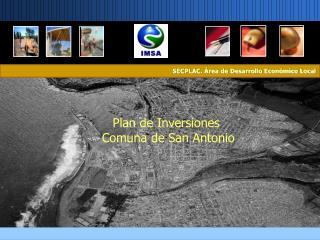 Plan de Inversiones  Comuna de San Antonio