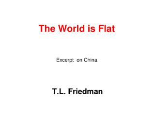 The World is Flat Excerpt  on China