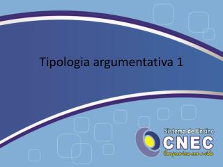 Tipologia argumentativa 1