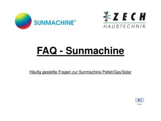FAQ - Sunmachine