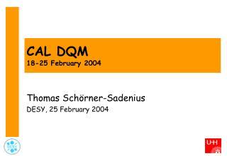 CAL DQM 18-25 February 2004
