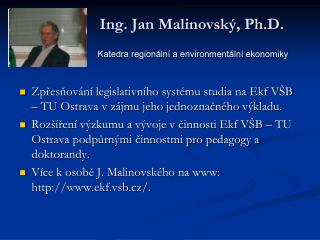 Ing. Jan Malinovský, Ph.D.