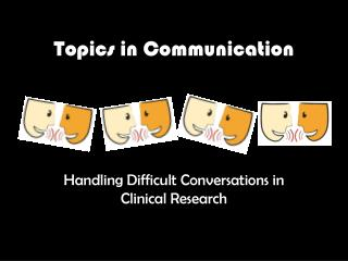 Topics in Communication