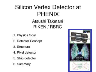 Silicon Vertex Detector at PHENIX