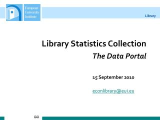 Library Statistics Collection The Data Portal