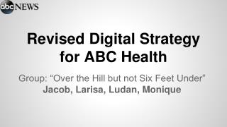 Revised Digital Strategy for ABC Health