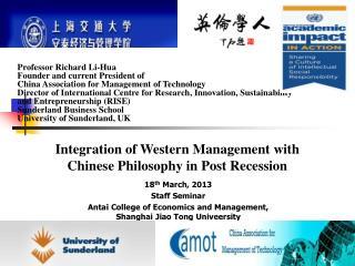 18 th  March, 2013 Staff Seminar