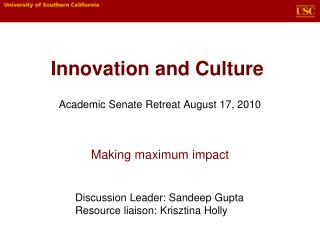 Innovation and Culture