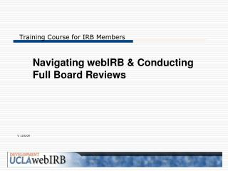 Training Course for IRB Members