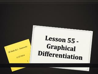 Lesson 55 - Graphical Differentiation