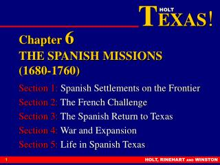 Chapter  6 THE SPANISH MISSIONS (1680-1760)