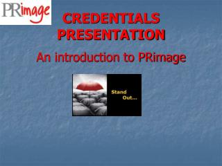 CREDENTIALS PRESENTATION